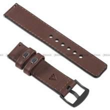 Pasek skórzany do zegarka lub smartwatcha - moVear WQU0C01SL00BKMM24B1 - 24 mm