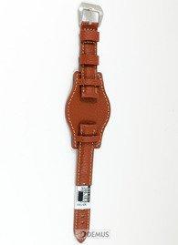 Pasek skórzany z podkładką do zegarka - Diloy 386.18.8 - 18 mm