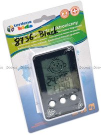 Termometr Higrometr Zegar dla dzieci Terdens 8736-Black