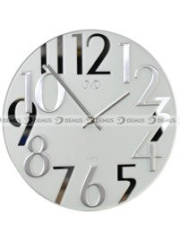 Zegar ścienny JVD HT101.1 szklany biały