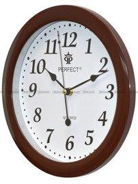 Zegar ścienny Perfect LA17-Shiny-Brown