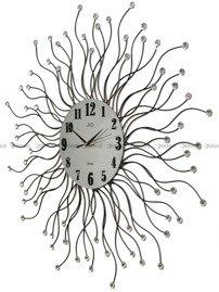 Zegar ścienny metalowy z elementami dekoracyjnymi i kryształowymi kamyczkami HJ19