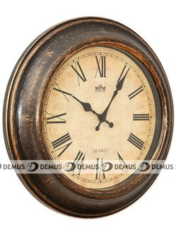 Zegar ścienny plastikowa obudowa koloru mosiężnego kuchenny E01.2503.50