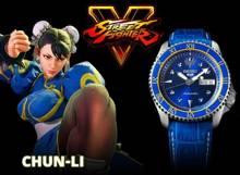 "Zegarek Seiko Street Fighter ""CHUN-LI - Blue Jade"" SRPF17K1 - Limitowana edycja"